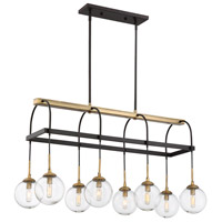 Fulton 8 Light 16 inch English Bronze/Warm Brass Chandelier Ceiling Light in Clear