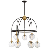 Fulton 9 Light 33 inch English Bronze and Warm Brass Chandelier Ceiling Light