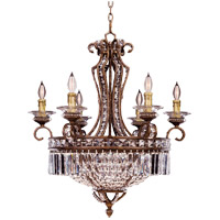 Savoy House Crystal Lustres Vera Cruz 6 Light Chandelier in New Tortoise Shell w/Silver 1-5019-6-8 photo thumbnail