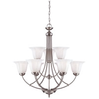 Savoy House Liberty 9 Light Chandelier in Satin Nickel 1-5023-9-69