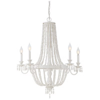 Savoy House 1-5090-5-82 Geneva 5 Light 30 inch Porcellena Chandelier Ceiling Light