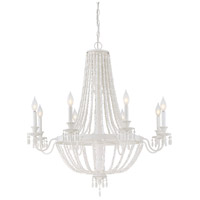 Geneva 8 Light 35 inch Porcellan Chandelier Ceiling Light