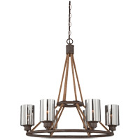 Savoy House Maverick 6 Light Chandelier in Artisan Rust 1-5150-6-32