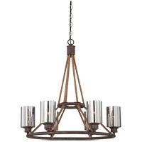 Savoy House 1-5150-6-32 Maverick 6 Light 28 inch Artisan Rust Chandelier Ceiling Light