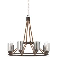 Savoy House 1-5151-8-32 Maverick 8 Light 34 inch Artisan Rust Chandelier Ceiling Light