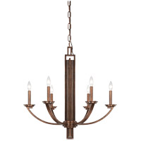 Savoy House Saitama 6 Light Chandelier in Dark Wood and Guilded Bronze 1-5205-6-327 photo thumbnail
