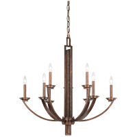 Savoy House Saitama 9 Light Chandelier in Dark Wood and Guilded Bronze 1-5206-9-327