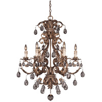 Savoy House Chastain 6 Light Chandelier in New Tortoise Shell w/ Silver 1-5306-6-8