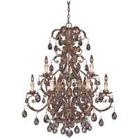 Chastain 9 Light 33 inch New Tortoise Shell with Silver Chandelier Ceiling Light