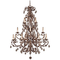 Chastain 16 Light 49 inch New Tortoise Shell with Silver Chandelier Ceiling Light