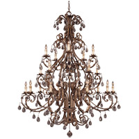 Chastain 20 Light 57 inch New Tortoise Shell with Silver Chandelier Ceiling Light