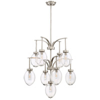 Savoy House 1-541-9-SN Ravenia 9 Light 26 inch Satin Nickel Chandelier Ceiling Light