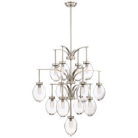 Savoy House 1-542-13-SN Ravenia 13 Light 30 inch Satin Nickel Chandelier Ceiling Light