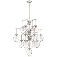 Savoy House 1-542-13-SN Ravenia 13 Light 30 inch Satin Nickel Chandelier Ceiling Light