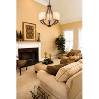 Savoy House Berkley 5 Light Chandelier in Heritage Bronze 1-5430-5-117 alternative photo thumbnail