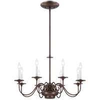 Bancroft 9 Light 29 inch Oiled Burnished Bronze Chandelier Ceiling Light