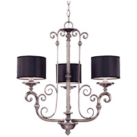 Savoy House Mont La Ville 3 Light Chandelier in Brushed Pewter 1-5682-3-187