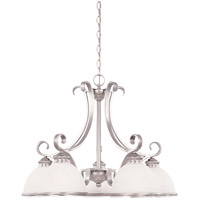 Willoughby 5 Light 27 inch Pewter Chandelier Ceiling Light in White Marble