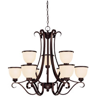 Willoughby 9 Light 34 inch English Bronze Chandelier Ceiling Light in Cream Marble