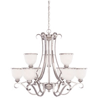 Willoughby 9 Light 34 inch Pewter Chandelier Ceiling Light in White Marble