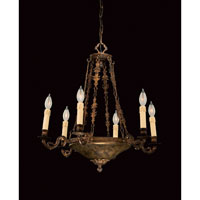 Savoy House European Transition Louis XVI / Empire 6 Light Chandelier in Distressed Antique Bronze 1-5957-6-93 photo thumbnail