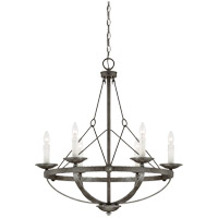 Savoy House Epoque 6 Light Chandelier in Antique Nickel 1-6000-6-285