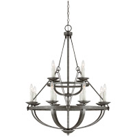Savoy House Epoque 12 Light Chandelier in Antique Nickel 1-6001-12-285