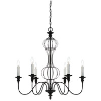 Savoy House Abagail 6 Light Chandelier in Forged Black 1-6010-6-17