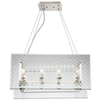 Addison 8 Light 30 inch Polished Nickel Trestle Ceiling Light