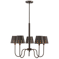 Kimball 5 Light 26 inch Cuprum Chandelier Ceiling Light