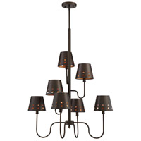 Kimball 7 Light 28 inch Cuprum Chandelier Ceiling Light