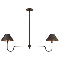 Kimball 2 Light 9 inch Cuprum Trestle Ceiling Light