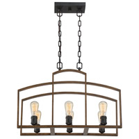Gage 6 Light 12 inch Woodland Bronze Chandelier Ceiling Light