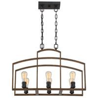 Savoy House 1-6057-6-87 Gage 6 Light 12 inch Woodland Bronze Chandelier Ceiling Light