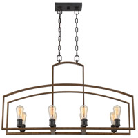 Gage 8 Light 12 inch Woodland Bronze Trestle Ceiling Light