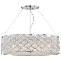 Opus 4 Light 32 inch Polished Chrome Trestle Ceiling Light