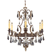 Marseille 6 Light 29 inch Moroccan Bronze Chandelier Ceiling Light