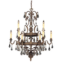 Marseille 9 Light 36 inch Moroccan Bronze Chandelier Ceiling Light