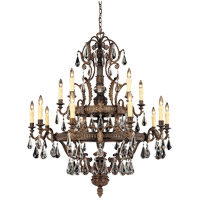 Marseille 15 Light 43 inch Moroccan Bronze Chandelier Ceiling Light