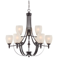 Duvall 9 Light 31 inch English Bronze Chandelier Ceiling Light in Cream Crackle