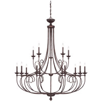 Savoy House 1-650-15-13 Langley 15 Light 50 inch English Bronze Chandelier Ceiling Light