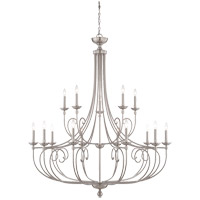Langley 15 Light 50 inch Satin Nickel Chandelier Ceiling Light