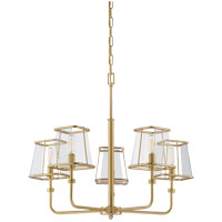 Savoy House Damascus 5 Light Chandelier in Warm Brass Lustre 1-650-5-63