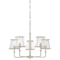 Damascus 5 Light 27 inch Satin Nickel Chandelier Ceiling Light