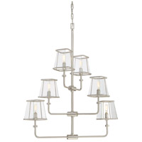 Damascus 6 Light 24 inch Satin Nickel Chandelier Ceiling Light