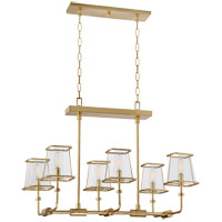 Savoy House Damascus 6 Light Chandelier in Warm Brass Lustre 1-652-6-63