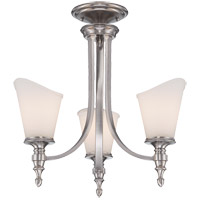 Savoy House Bishop 3 Light Chandelier in Brushed Pewter 1-6540-3-187