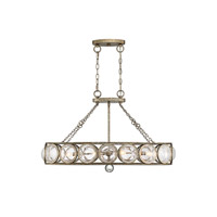 Warwick 6 Light 35 inch Brittania Gold Island Light Ceiling Light