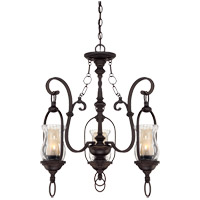 Savoy House Shadwell 3 Light Chandelier in English Bronze w/Gold 1-6720-3-213