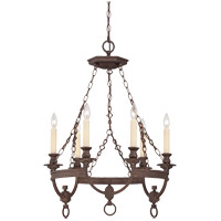 Savoy House Bastille 6 Light Chandelier in Heritage Bronze 1-6740-6-117